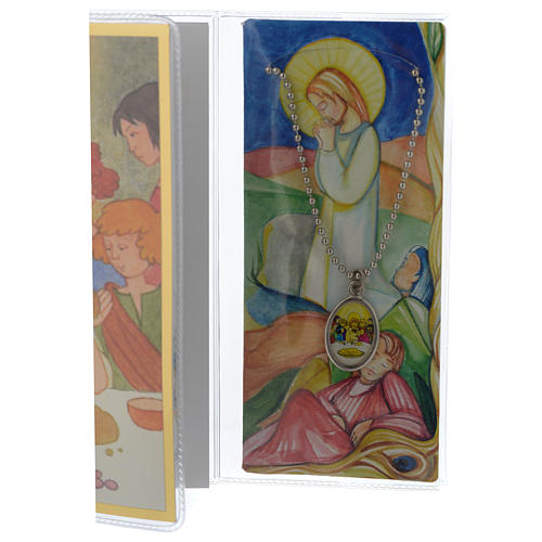 First communion booklet with pendant 3