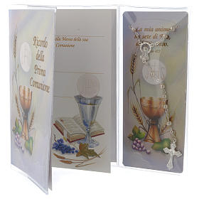 Communion memory booklet and rosary s2