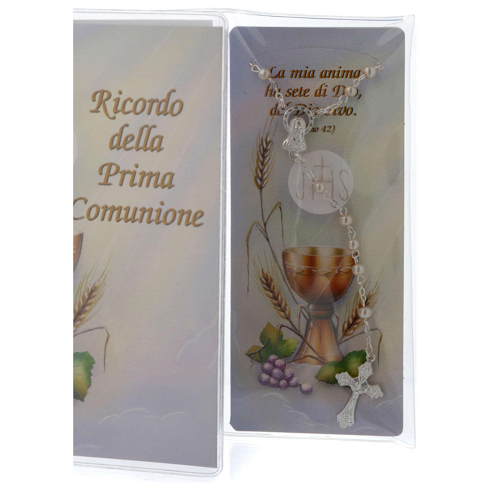 Ricordo Comunione libretto e rosario 3