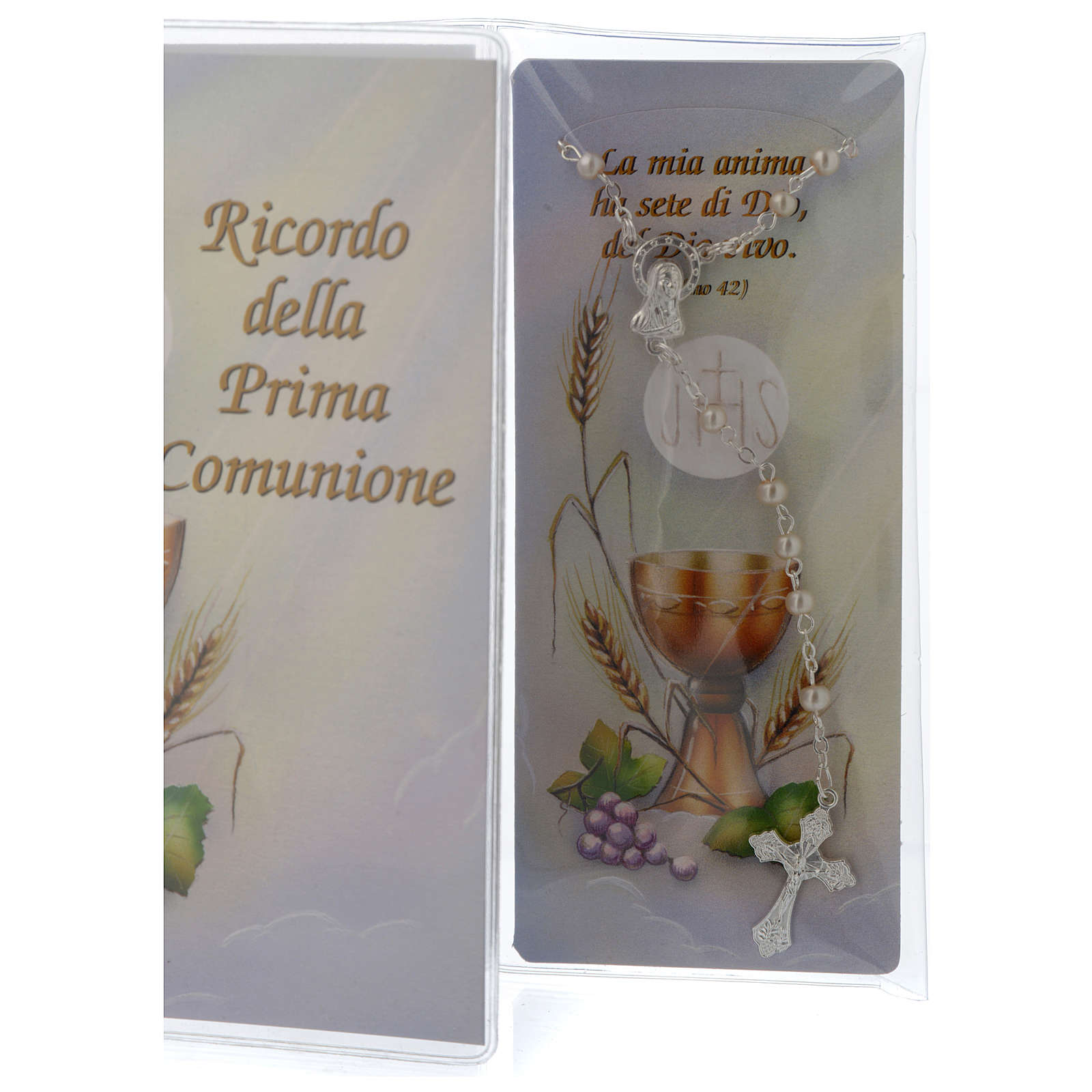 Communion memory booklet and rosary 3