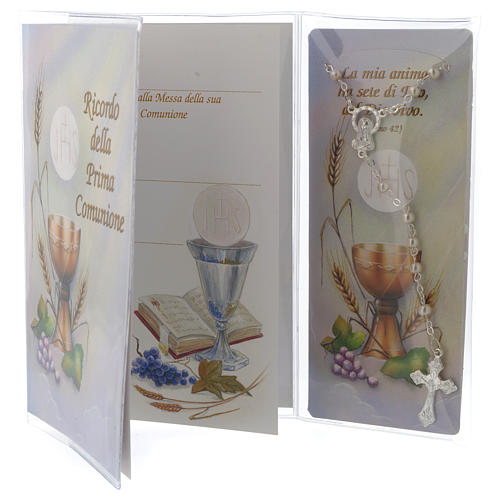 Communion memory booklet and rosary 2