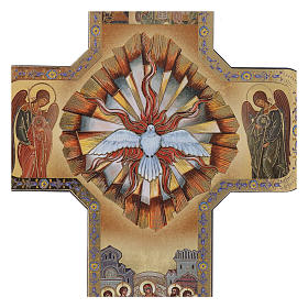 Croce Spirito Santo stampa legno 10x15 cm s2