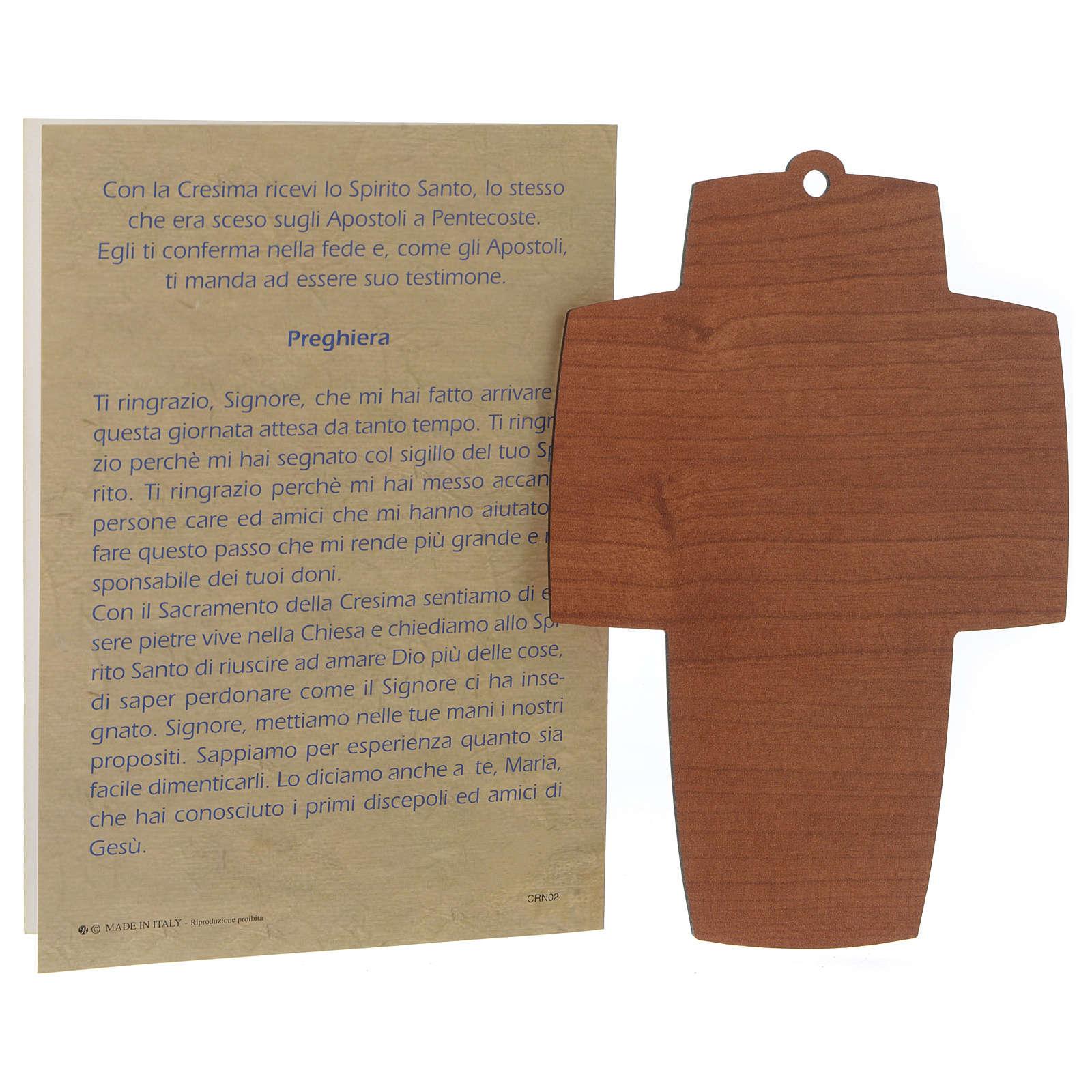 Diplôme de Confirmation avec croix en bois 3