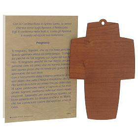 Diplôme de Confirmation avec croix en bois s3