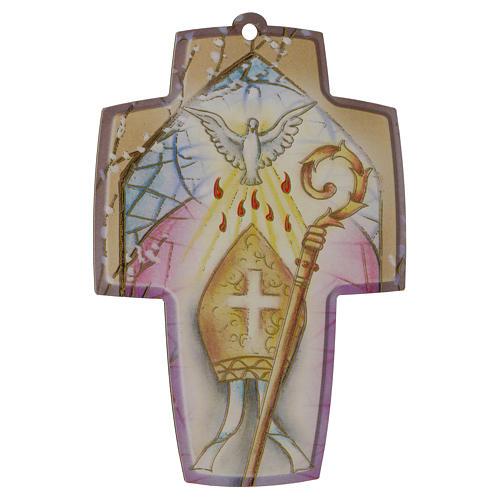 Diplôme de Confirmation avec croix en bois 1