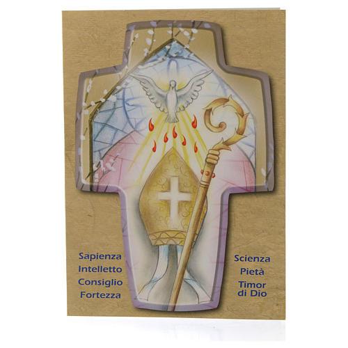 Diploma di Cresima con Croce in legno 2