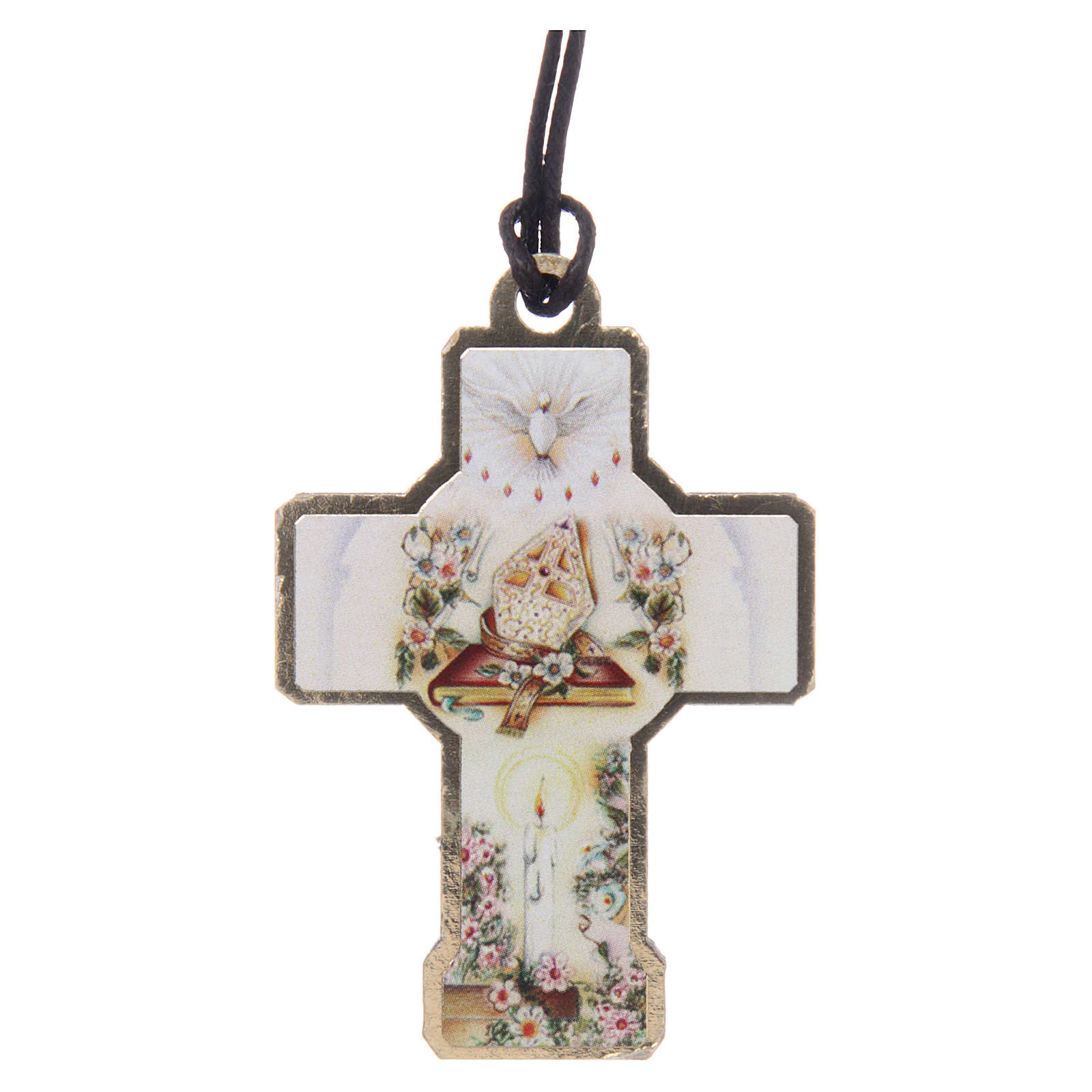 Croix en bois avec cordon 3x5 cm 3