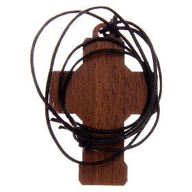 Croix en bois avec cordon 3x5 cm s3