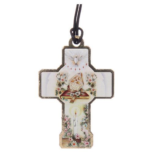 Croix en bois avec cordon 3x5 cm 2