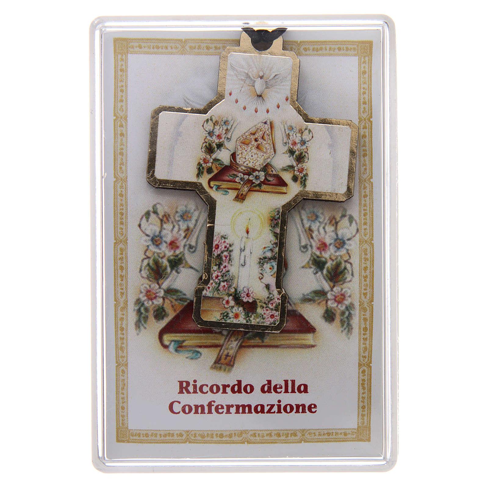 Croce in legno con cordino 3x5 cm 3