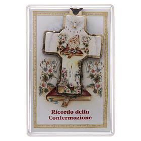 Croce in legno con cordino 3x5 cm s1