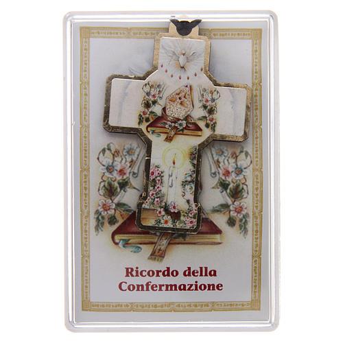 Croce in legno con cordino 3x5 cm 1