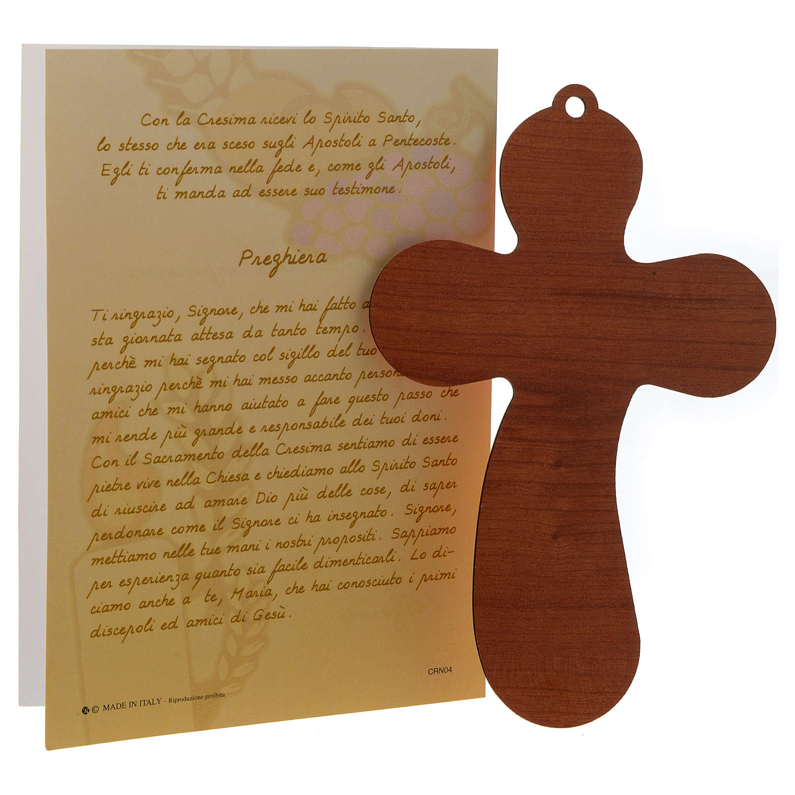 Recuerdo de la Confirmación, cruz y certificado 3