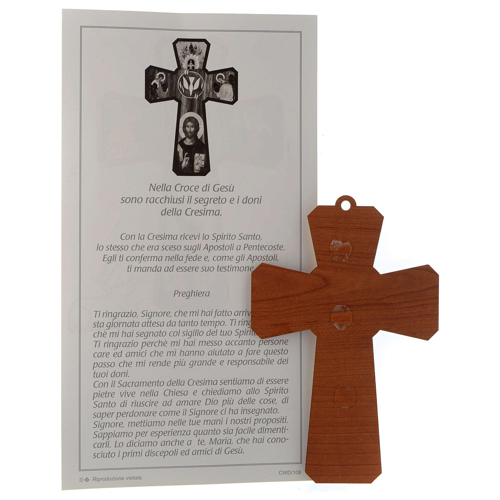Holy Spirit cross with certificate and prayer 3