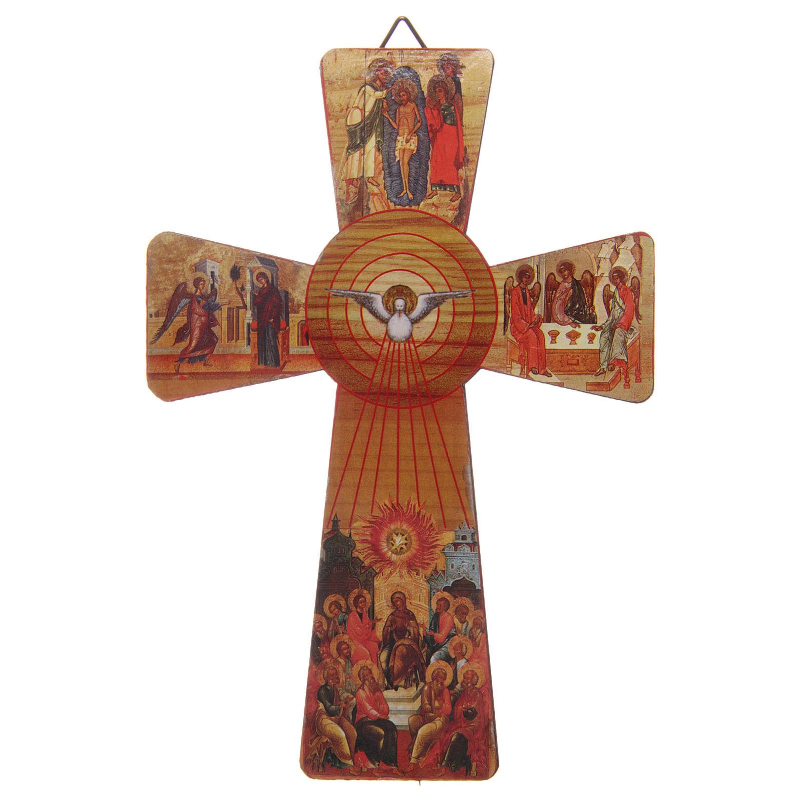Croce Cresima stampa su legno 15x10 3