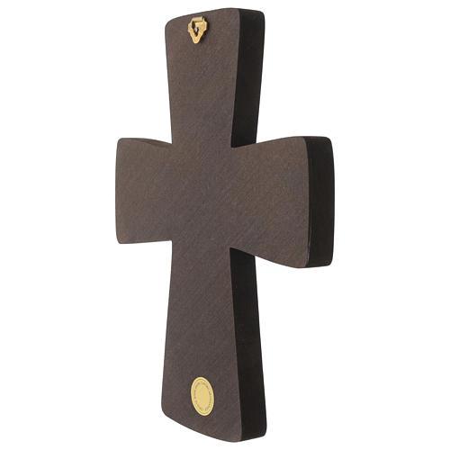 Croce in legno stampa Pentecoste 15x25 cm 4