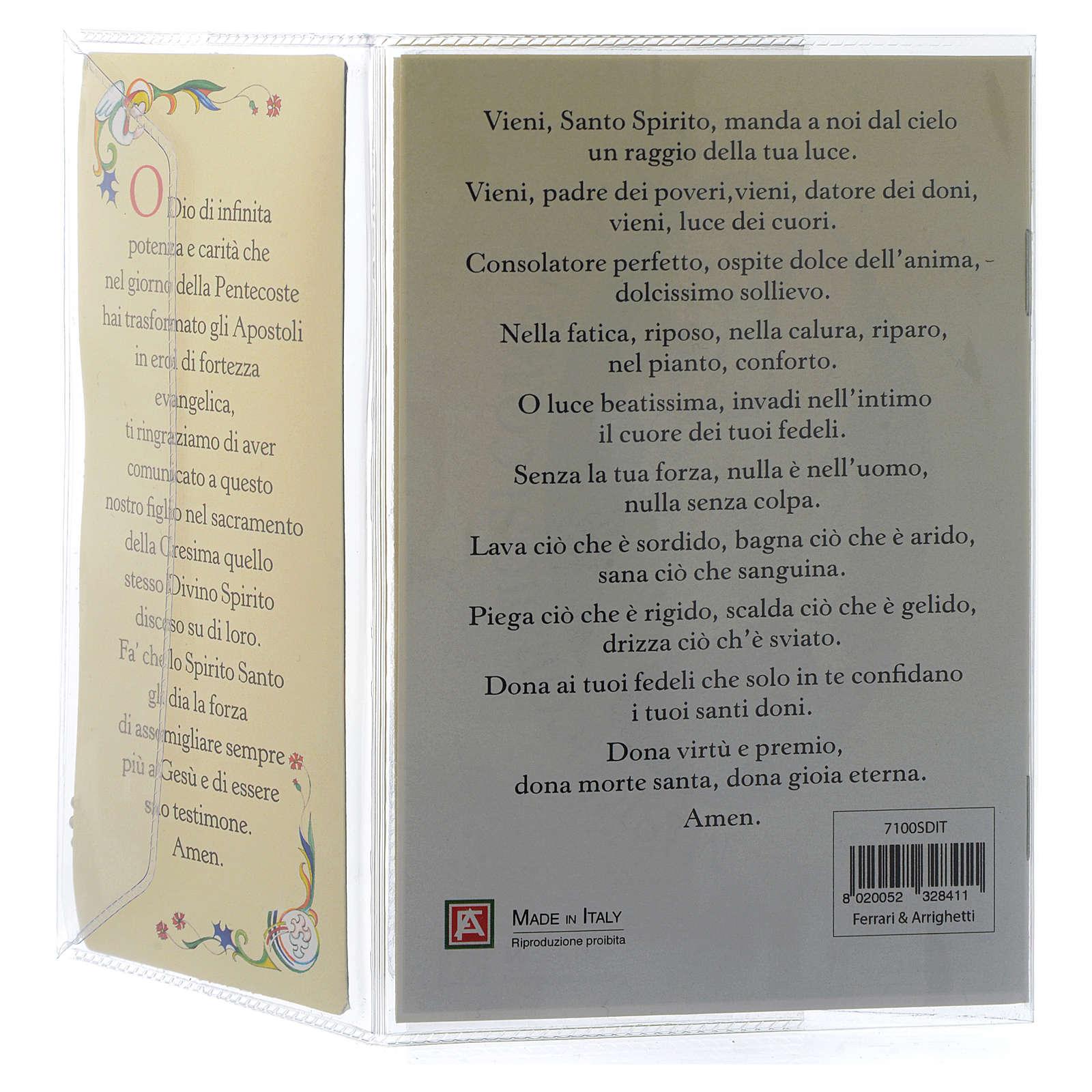 Livret souvenir Confirmation italien et pendentif 3