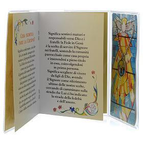 Livret souvenir Confirmation italien et pendentif s2