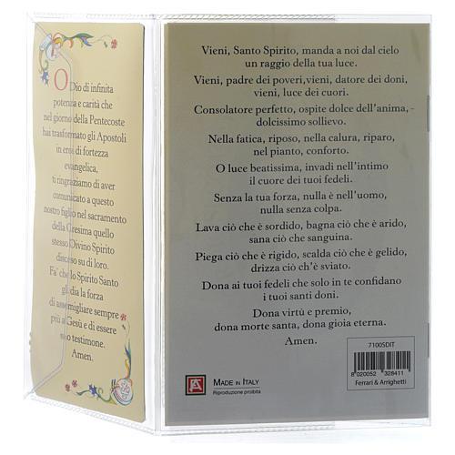 Livret souvenir Confirmation italien et pendentif 4