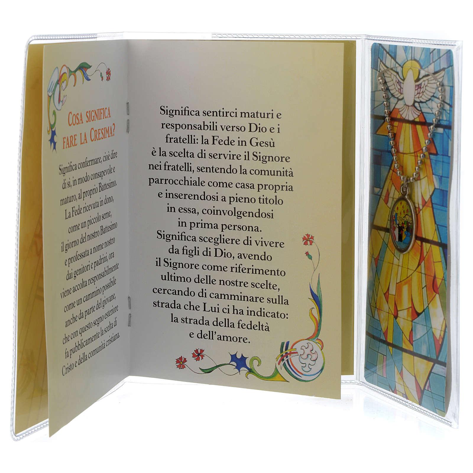 Libretto Ricordo Cresima Italiano e pendente 3