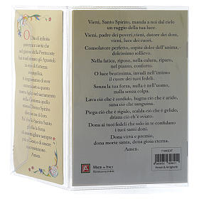 Confirmation memory booklet in Italian with pendant s4