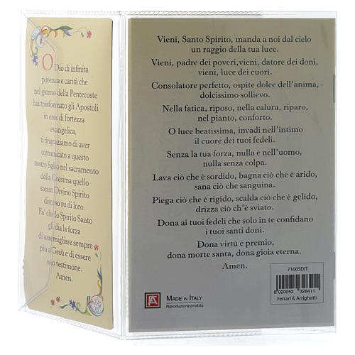Confirmation memory booklet in Italian with pendant 4