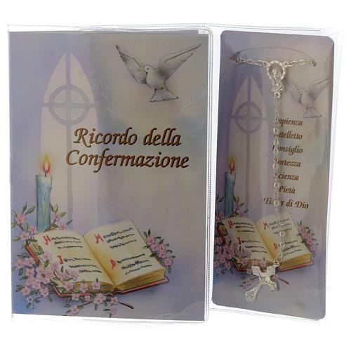 Livret souvenir Confirmation chapelet italien 1