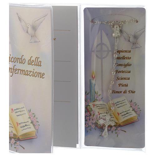 Livret souvenir Confirmation chapelet italien 3