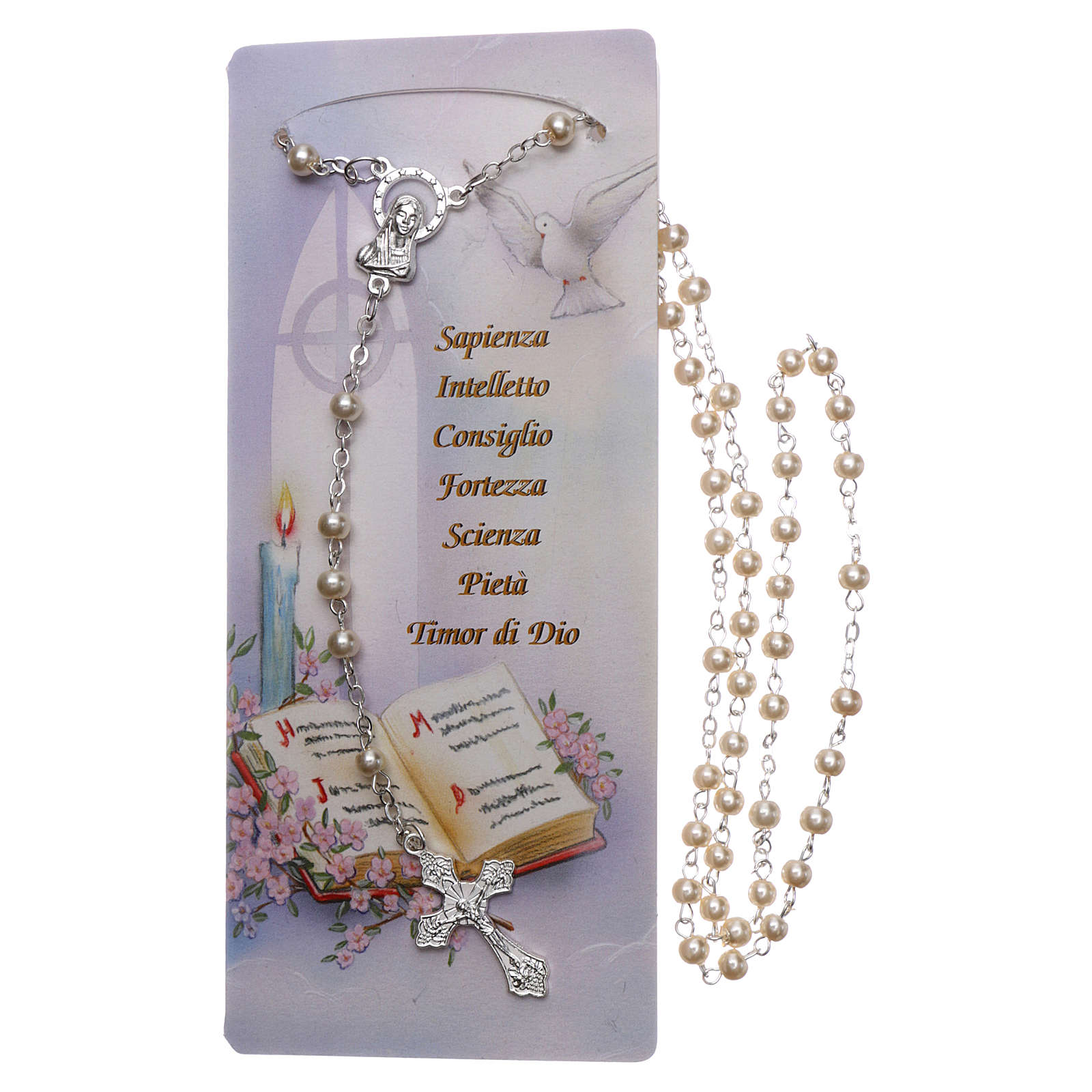 Carte souvenir Confirmation Psaume et Chapelet - ITA 3