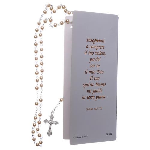 Carte souvenir Confirmation Psaume et Chapelet - ITA 2