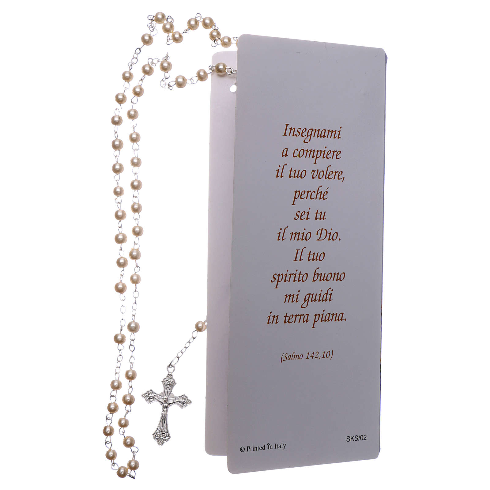 Confirmation memory card with Psalm and rosary ITA 3