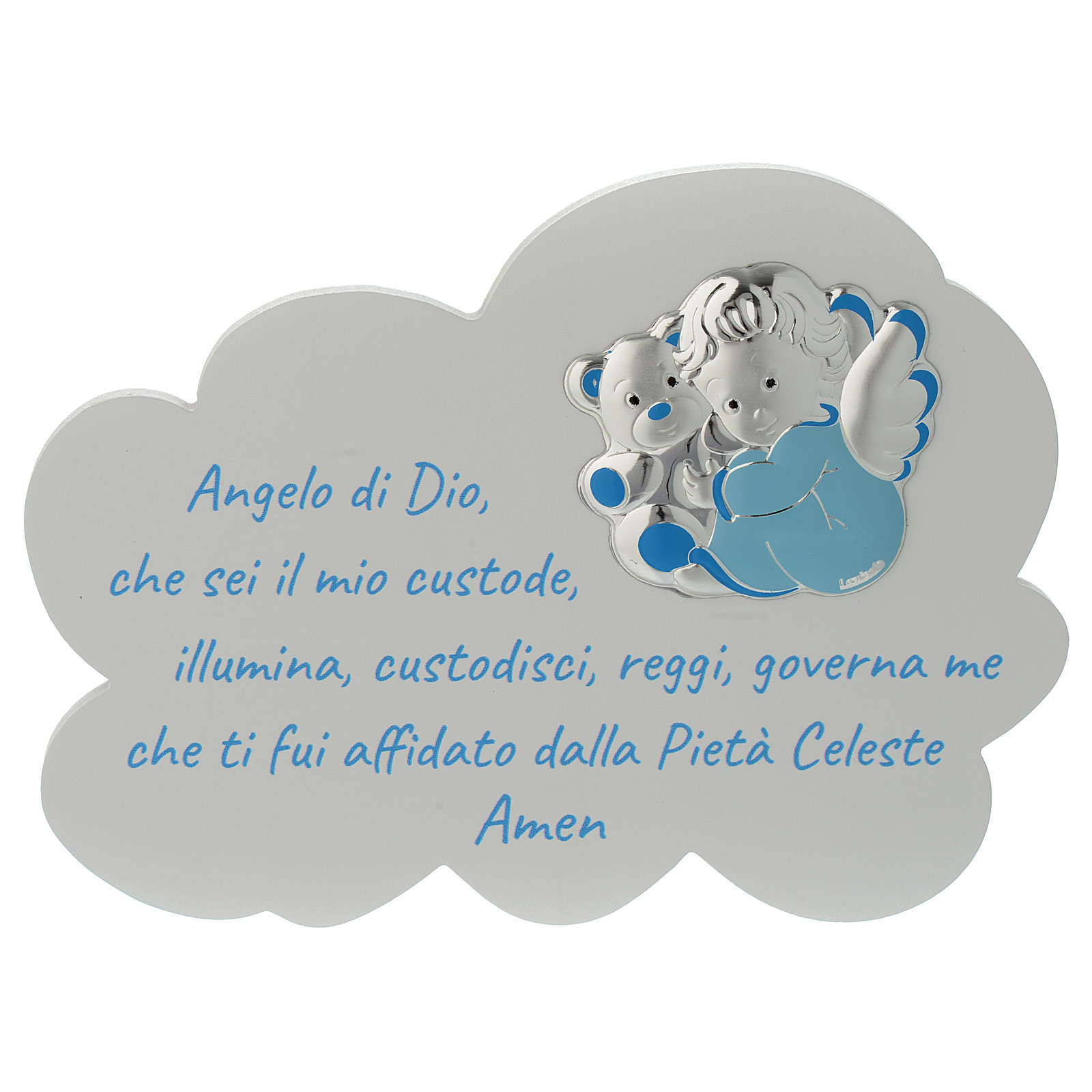 Tavola Nuvola celeste con preghiera e angelo 3