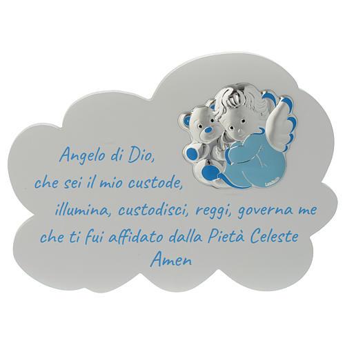 Tavola Nuvola celeste con preghiera e angelo 1