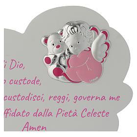 Tavola Nuvola rosa con preghiera e angelo s2