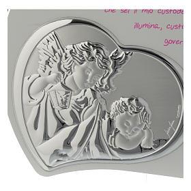 Tavola cuore intagliata con preghiera e angelo - rosa s2