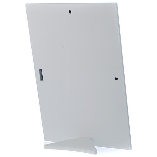 Cuadro Sagrada Familia rectangular plata tabla blanca 3