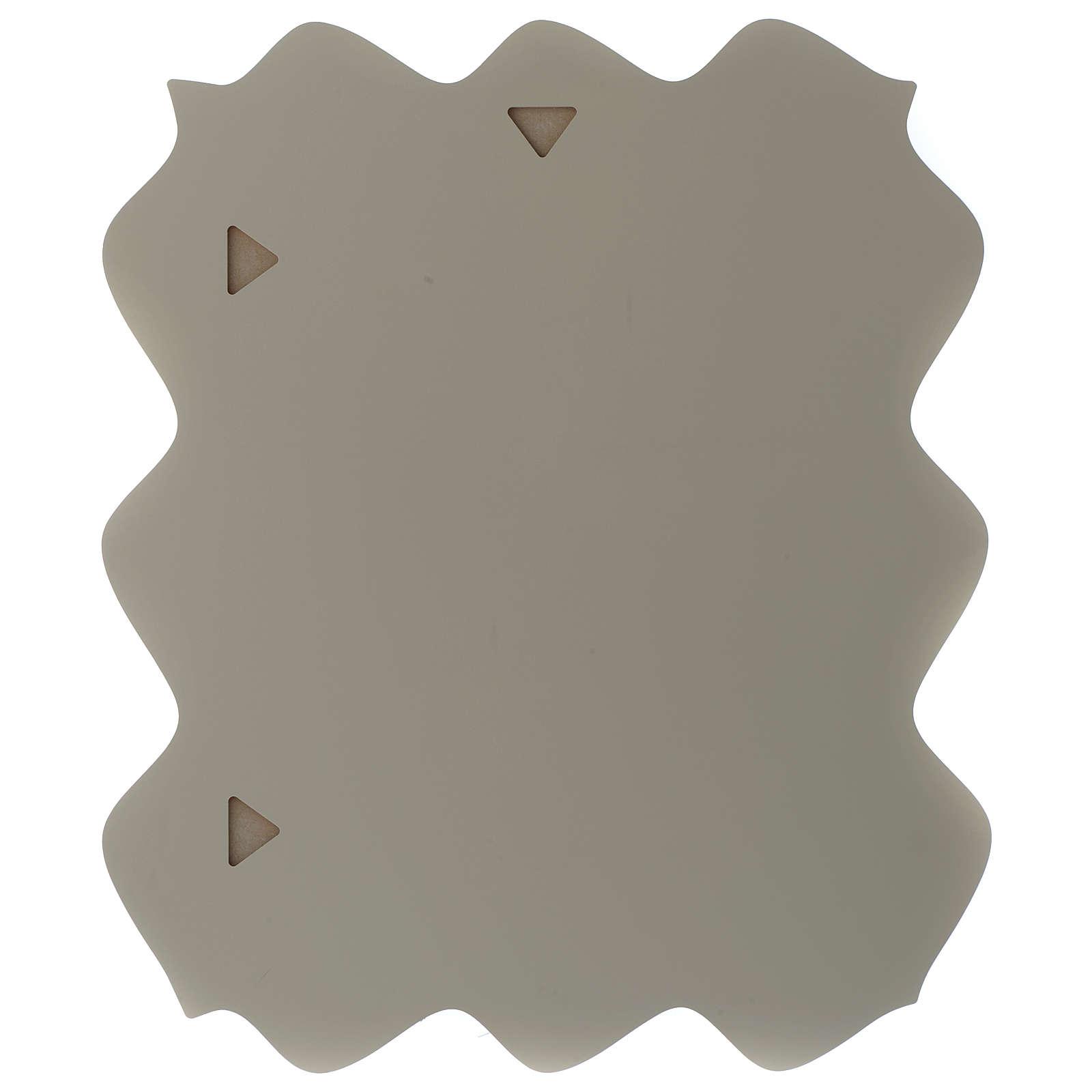Quadro rettangolare S. Famiglia dettagli colorati e legno 2 colori 3