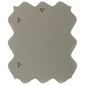 Quadro rettangolare S. Famiglia dettagli colorati e legno 2 colori s3
