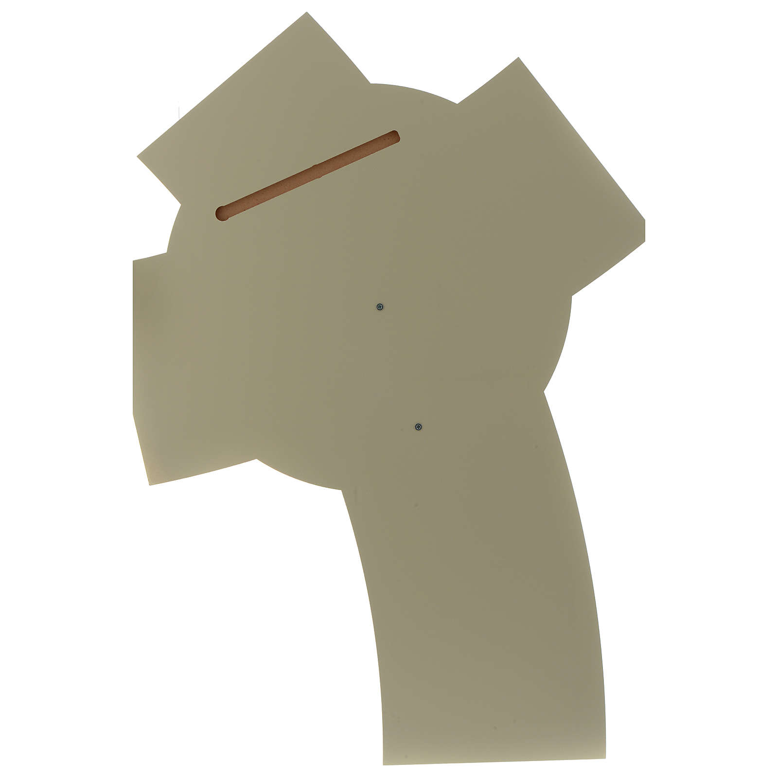 Crocefisso stilizzato resina e base legno intagliato 3