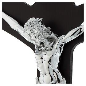 Croce legno wengé e corpo lastra argentata s2