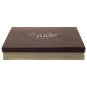 Cornice cresima legno e bilaminato argento 15x20 cm s4