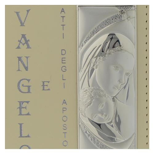 Vangelo Battesimo copertina in similpelle e placca Argento Bilaminato 10X15 cm 2