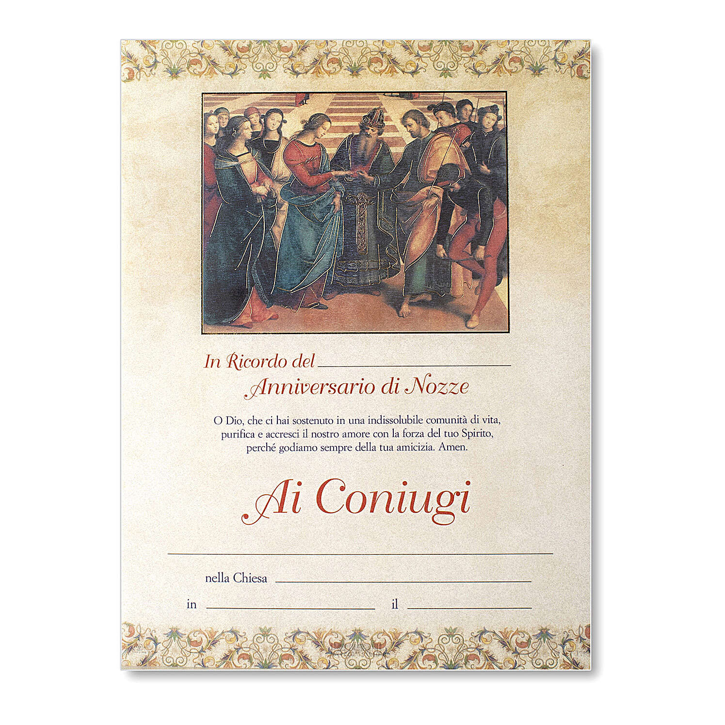 Wedding parchment ITA, The Marriage of the Virgin by Raphael 3