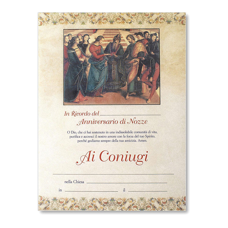 Pergamena Matrimonio Sposalizio della Vergine di Raffaello 3