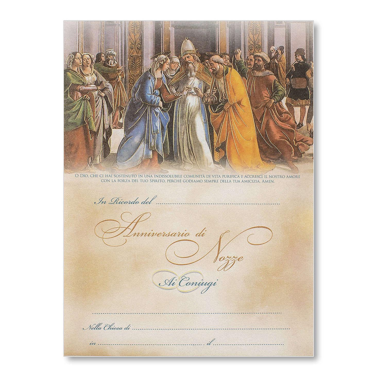 Pergamena Matrimonio Sposalizio della Vergine del Ghirlandaio 3
