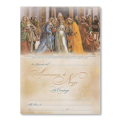 Pergamena Matrimonio Sposalizio della Vergine del Ghirlandaio 1