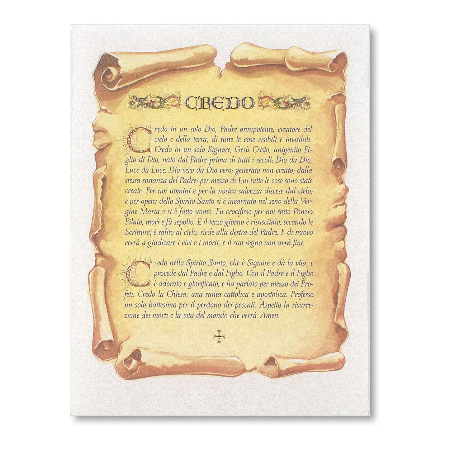 Pergamena Cresima Preghiera del Credo 3