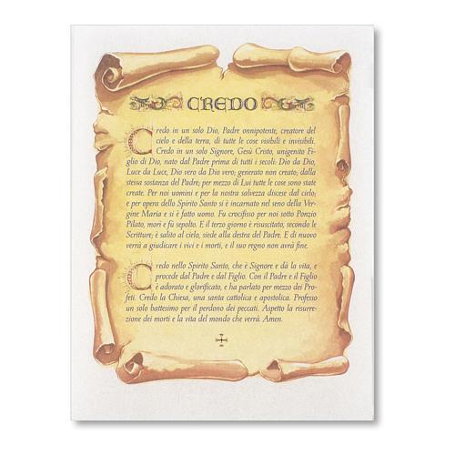 Pergamena Cresima Preghiera del Credo 1