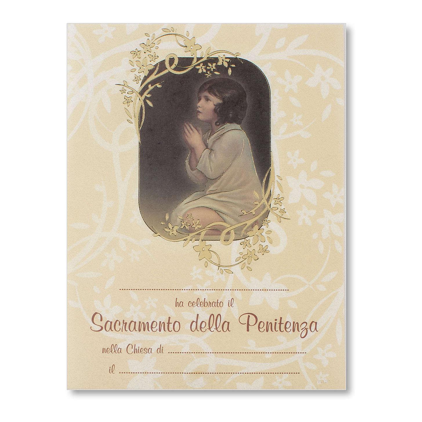 Pergamena Confessione Piccolo Samuele 3
