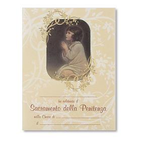 Pergamena Confessione Piccolo Samuele s1